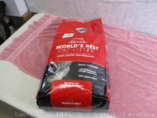 World's Best Cat Litter, Clumping Litter Formula for Multiple Cats, 28-Pounds