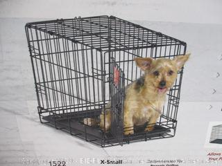 Dog Crate  MidWest iCrate XS Folding Metal Dog Crate  22L x 13W x 16H inches