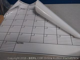 erasable monthly planner with marker
