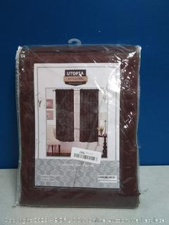 Utopia bedding blacked out basic 2 panel chocolate curtains