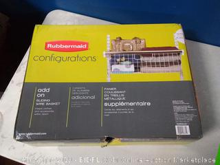 Rubbermaid configurations add-on sliding wire basket Factory sealed