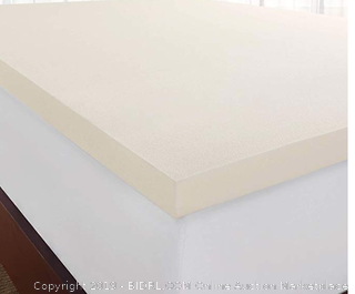 Sleep Innovations 2-inch Memory Foam Mattress Topper, Made in The USA with a 5-Year -Twin XL Size