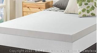 Zenith Twin 4in memory foam mattress topper
