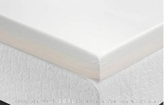 zinus twin 4in memory foam mattress topper