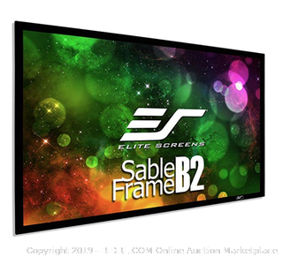 Elite Screens Sable Frame B2, 135-INCH Diag. (Online $235) 16:9, Active 3D 4K / 8K Ultra HD Fixed Frame Home Theater Projection Projector Screen with Kit, SB135WH2