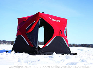 Eskimo FatFish Portable 3-4 Person Pop Up Ice Fishing (Online $249)