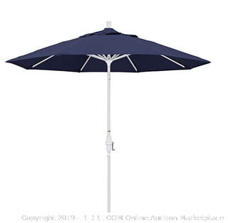 California umbrellas twist to tilt navy blue
