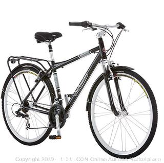 Schwinn Discover Hybrid Bikes for Men and Women, (Online $355) Featuring Aluminum City Frame, 21-Speed Drivetrain, Black and White