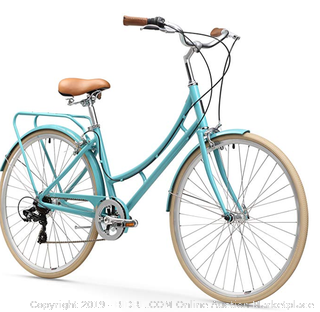 sixthreezero Ride in The Park Women's Touring City Road Bicycle with Rear Rack - Teal (Online $400)