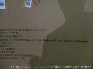 Timber Ridge Balsam Deluxe Zero Gravity Lounger New damaged box
