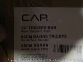 "CAP 34"" Tricep Bar Factory sealed damaged box"