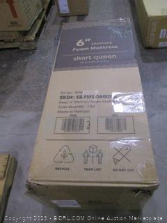 """6"""" Memory foam Mattress Short Queen"""