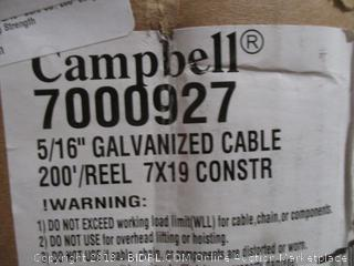 "5/16"" Galvanized Cable"