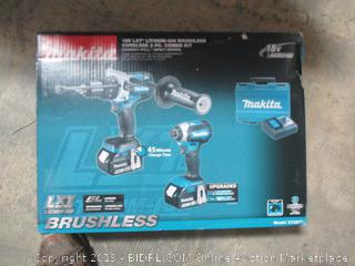 Brushless Cordless Combo Kit Hammer drill / Impact driver new, box damage