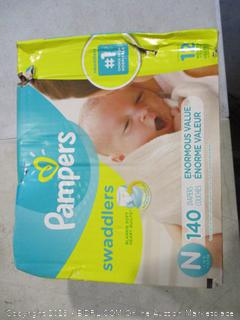 Pampers Swaddlers Size N (Box Damaged)
