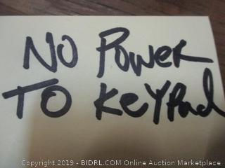 Amazonbasic no keys, No power to keypad
