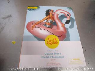 Sun Squad Inflatable Giant Rosegold Flamingo