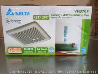 Delta Breez Retrofit Ceiling Wall Ventilation Fan