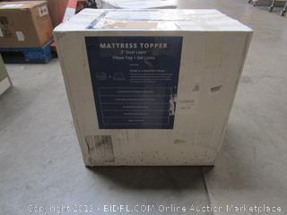 Dual Layer Pillow Top Gel Latex Mattress Topper