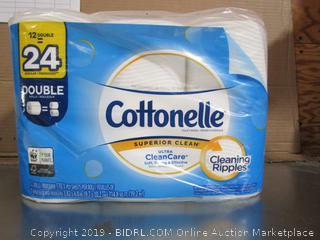 Cottonelle Ultra CleanCare 12 Double-Rolls Toilet Paper