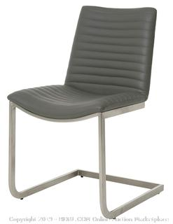 Emma side chair metallic 2 Pack (Factory Sealed) COME PREVIEW!!!!! (online $189)