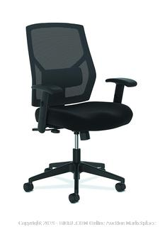 The HON Company BSXVL581ES10T HON Crio High Task Fabric Mesh Back Computer Chair for Office Desk, Black (HVL581), Swivel/Tilt (online $107)