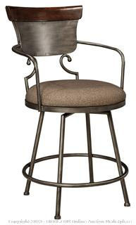 Ashley Furniture Signature Design - Moriann Swivel Barstool - Counter Height - Vintage Casual - Two-tone Finish (Factory Sealed) COME PREVIEW!!!!! (online $140)