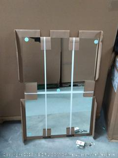 BX frameless mirror with Clip fasteners (online $62)