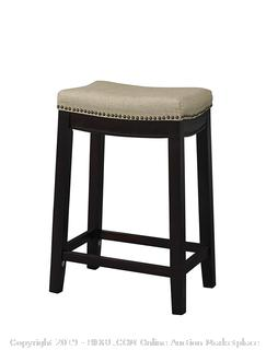 Linon Hampton Linen Counter Stool 24""