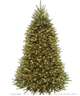 National Tree 7 Foot Dunhill Fir Tree with 700 Clear Lights, Hinged (DUH-70LO) (Online $180)