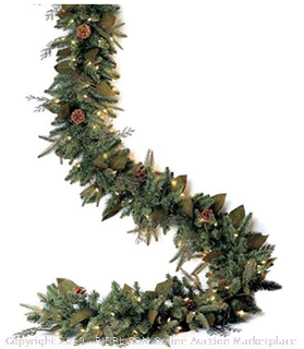 Bethlehem Lighting GKI Pre-Lit PE/PVC Christmas Garland with 100 Clear Mini Lights, 6', Green River Spruce (Online $34)