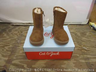 Cat & Jack Kya Chestnut Boots Size 4