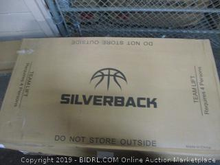 "Silverback 60"" In-Ground Basketball Hoop w/ Adjustable Height Tempered Glass Backboard and Breakaway Rim"