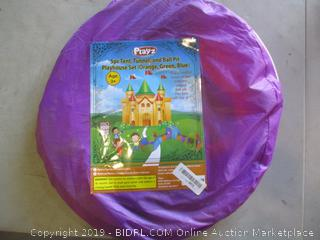 Tent, Tunnel, and Ball Pit Playhouse Set