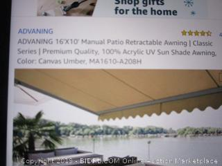 Advaning manual patio retractable awning, classic series