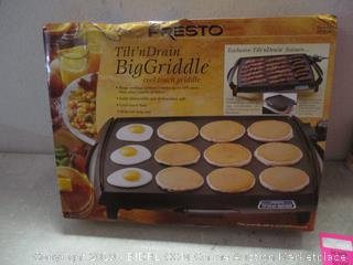 Presto tilt 'n drain big griddle