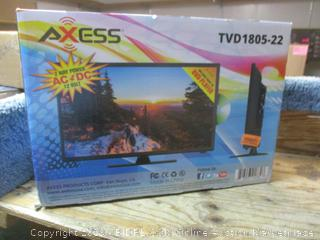 "Axess 22"" LED TV/DVD -- powers on"