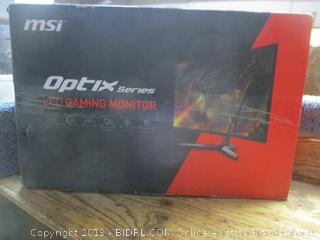 MSi Optix series LED gaming monitor -- powers on
