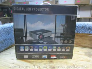 Digital LED projector - powers on
