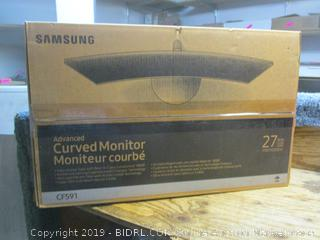 Samsung advanced curved monitor - powers on