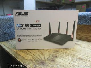 ASUS ac3100 extreme wifi router -- powers on