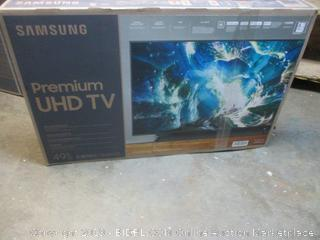 "Samsung Premium UHD 49"" TV - powers on"