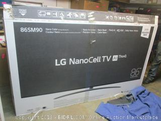 "LG NanoCell 86"" TV -- powers on, new"