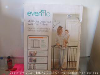 EvenFlo multi-use decor tall walk-thru gate