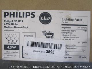 Philips LED G25 4.5W Globe