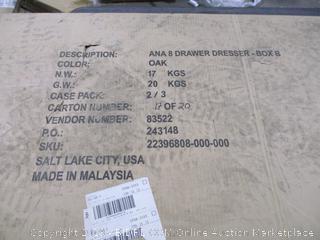 Ana 8 Drawer dresser Box B ONLY incomplete