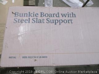 Full Bunkie board with steel slat support