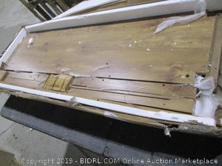 58 inch Barn door TV Stand with side doors