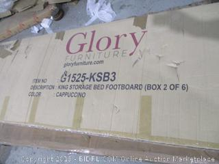 King Storage Bed Footboard box 2 of 6 Incomplete set