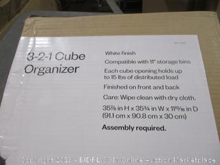3-2-1 Cube Organizer
